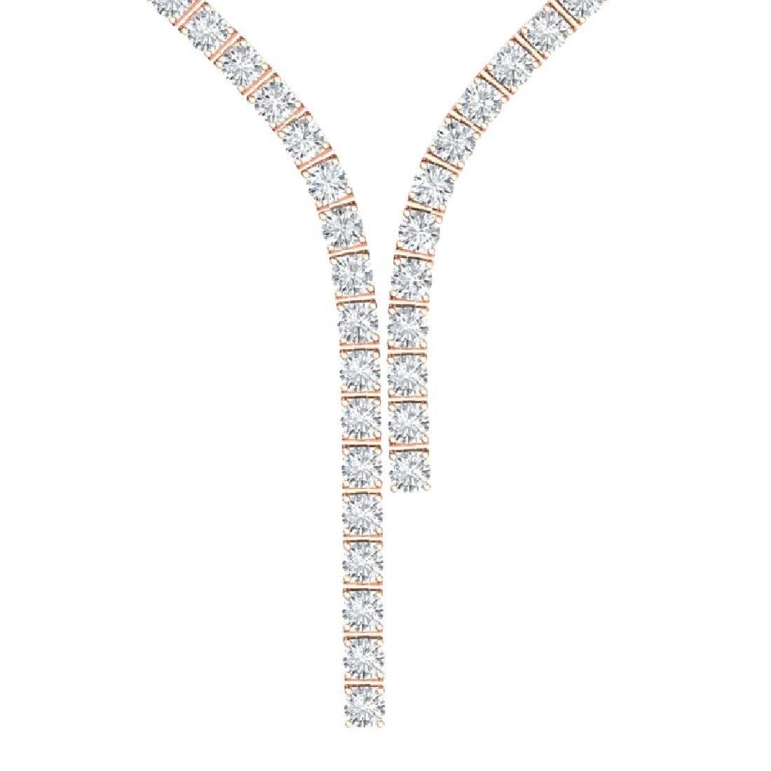 25 CTW Certified VS/SI Diamond Necklace 18K Rose Gold