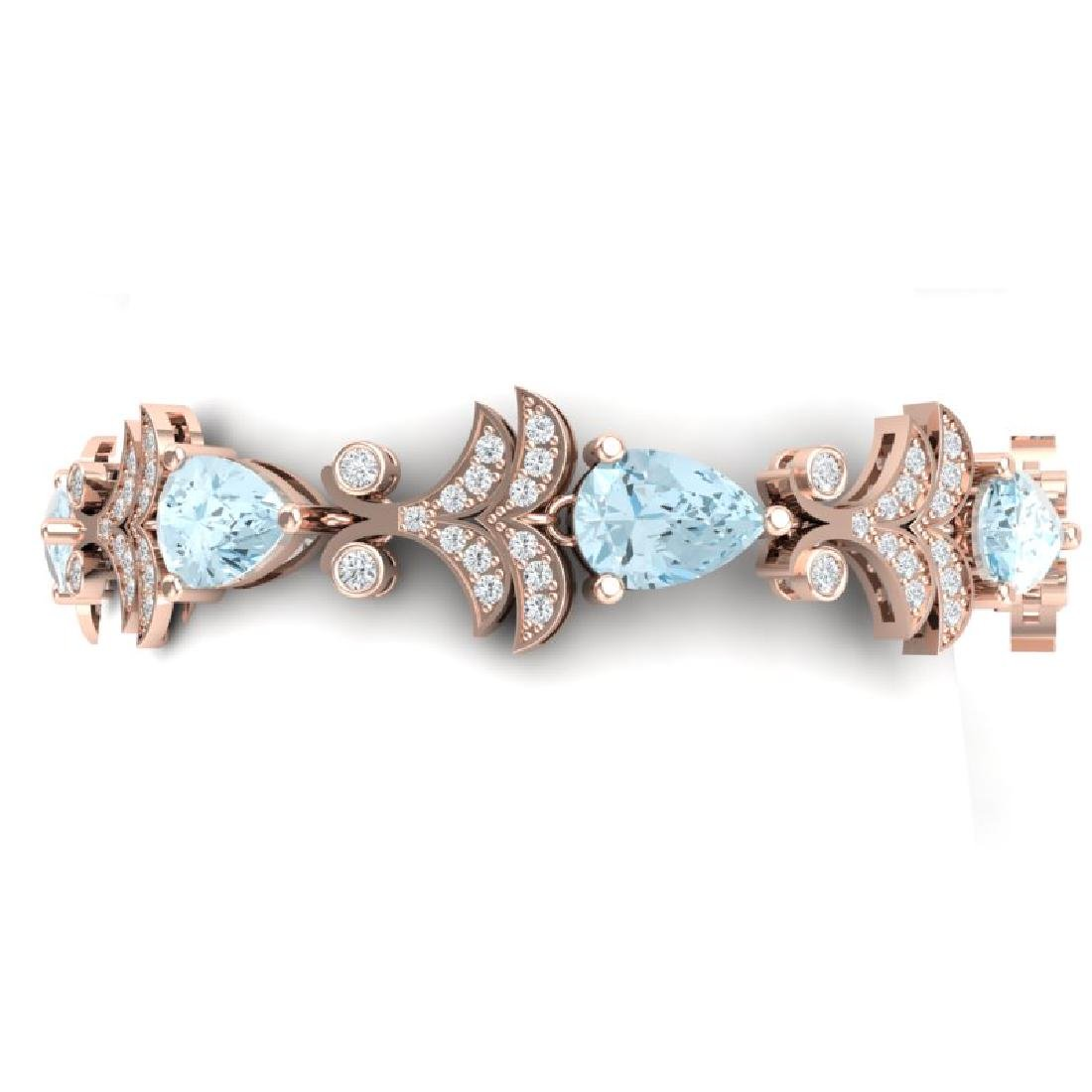 26.1 CTW Royalty Sky Topaz & VS Diamond Bracelet 18K