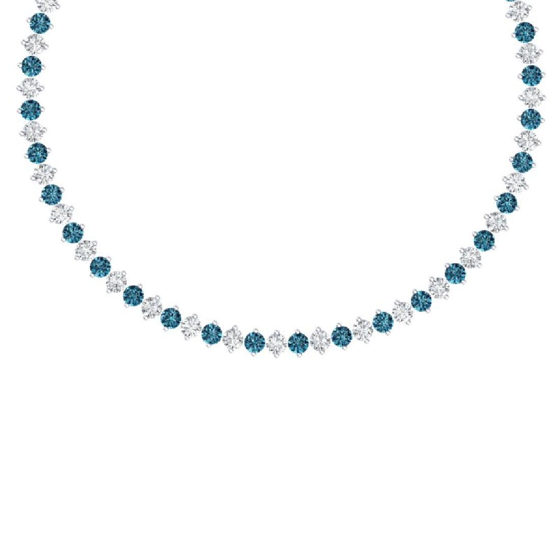 45 CTW Certified SI/I Intense Blue & White Diamond
