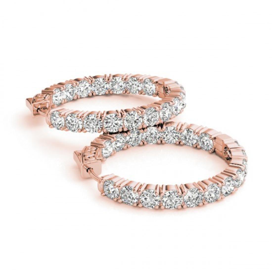 8 CTW Diamond VS/SI Certified 23 Mm Hoop Earrings 14K