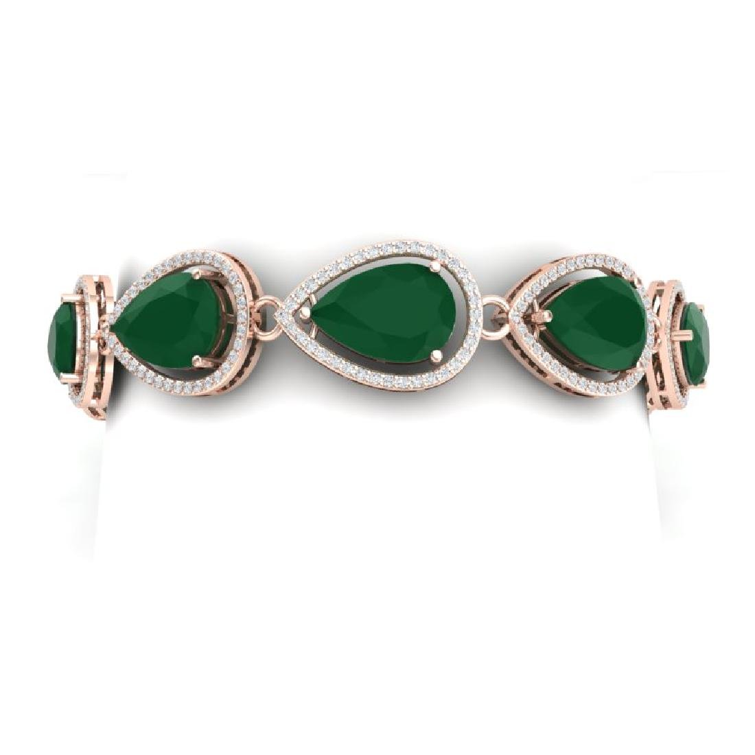 28.31 CTW Royalty Emerald & VS Diamond Bracelet 18K