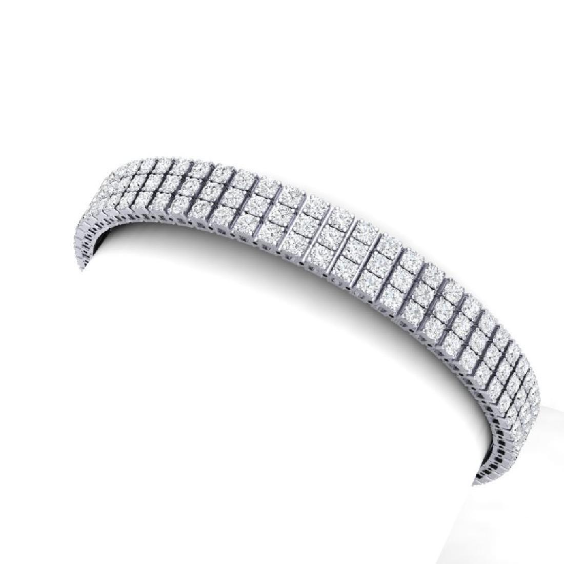 12 CTW Certified SI/I Diamond Bracelet 18K White Gold