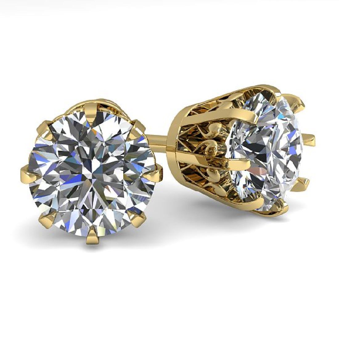 2.50 CTW VS/SI Diamond Stud Solitaire Earrings 18K