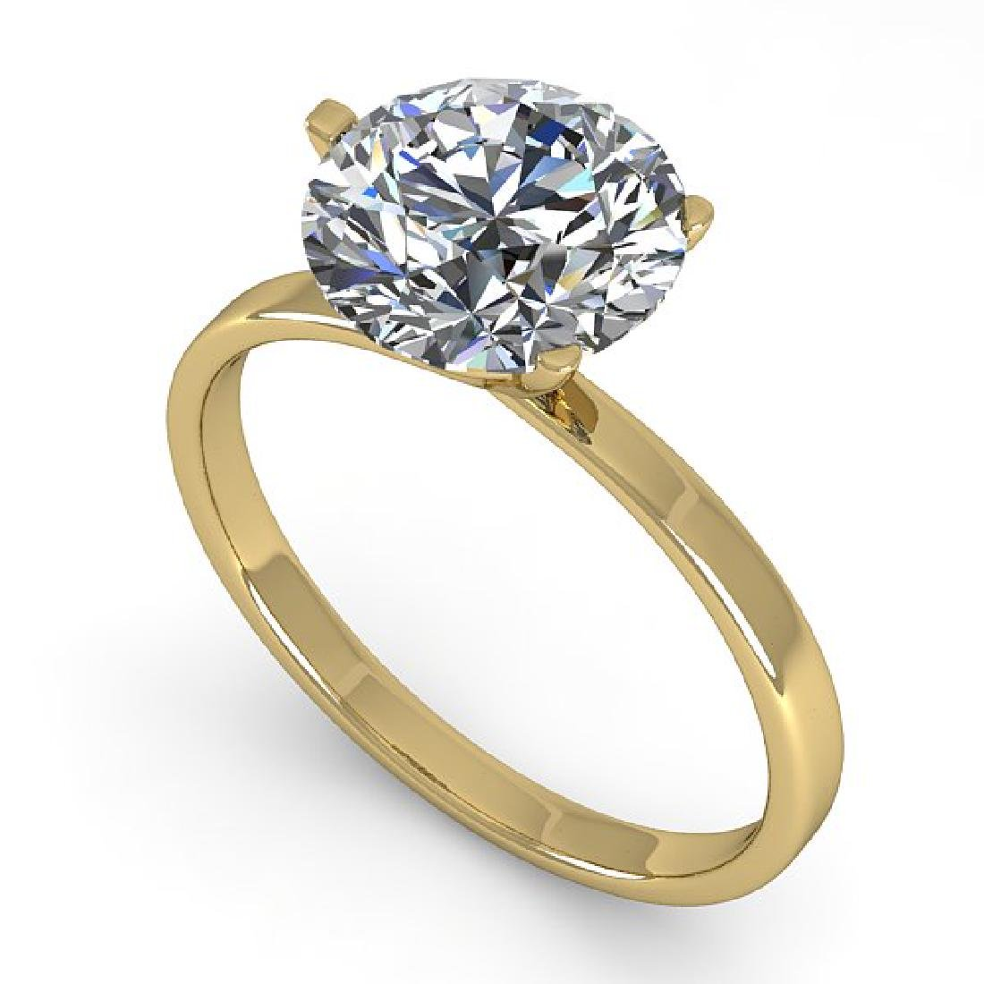 2.01 CTW Certified VS/SI Diamond Engagement Ring 18K