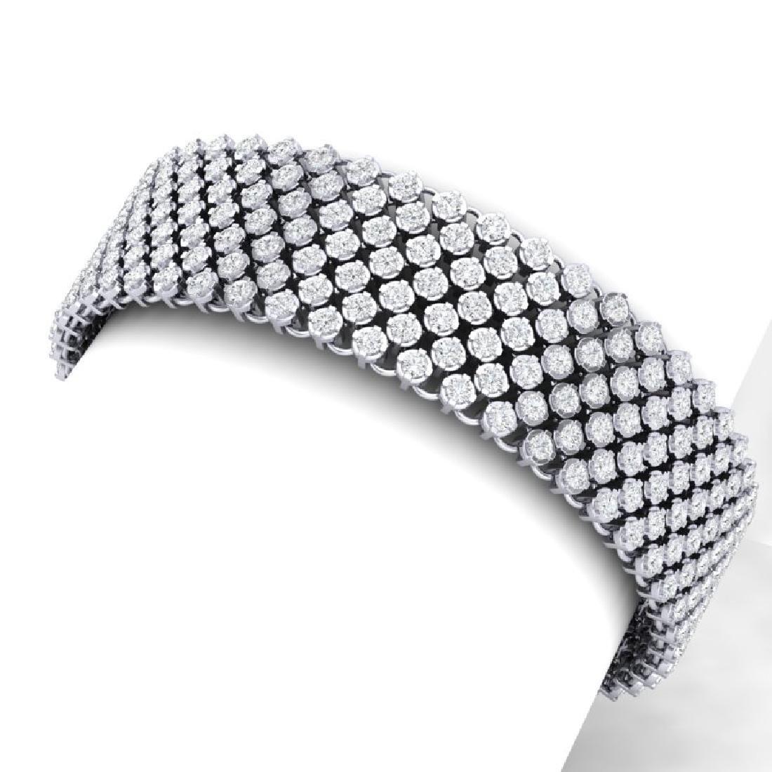 15 CTW Certified VS/SI Diamond Bracelet 15K 18K White