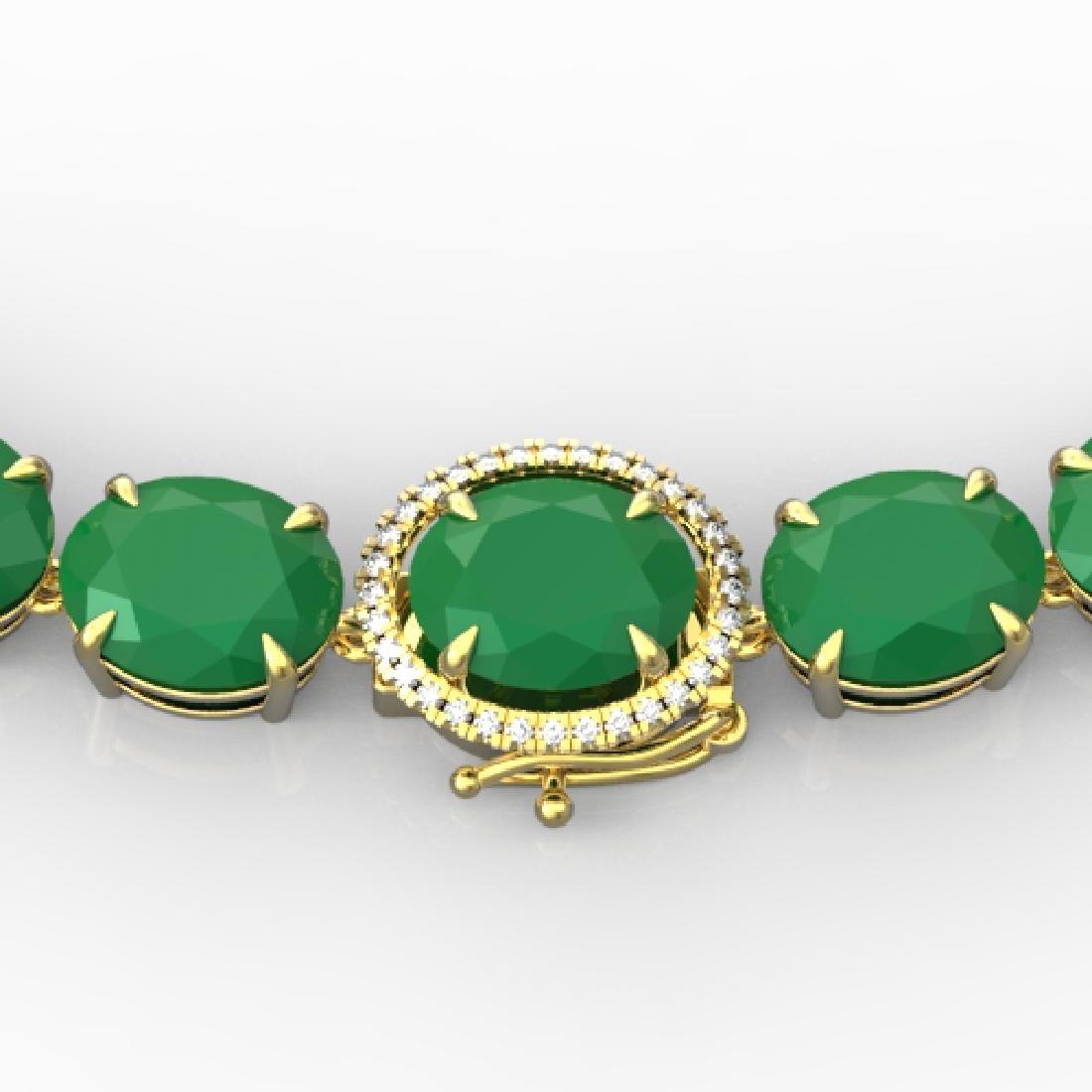 170 CTW Emerald & VS/SI Diamond Solitaire Necklace 14K