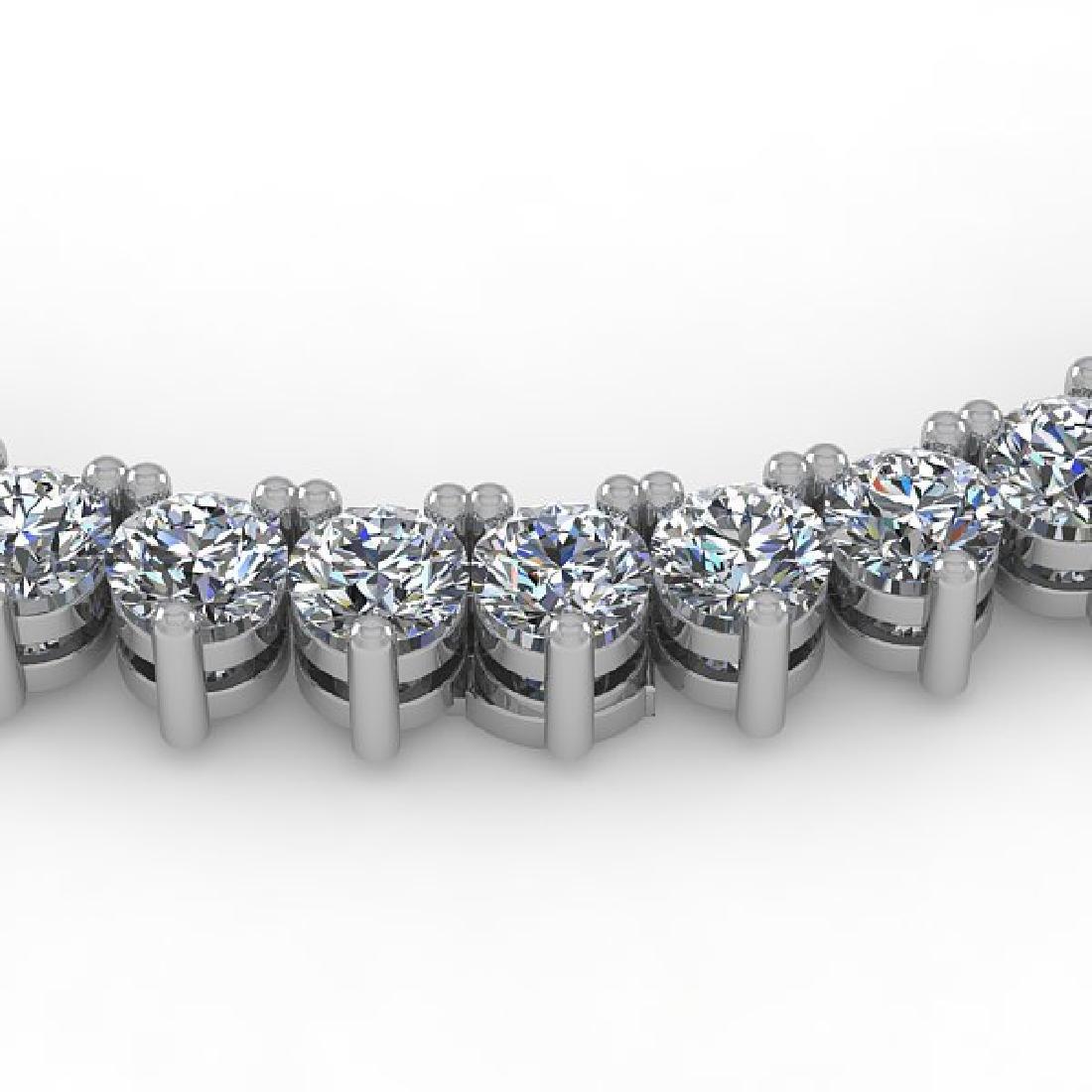 22 CTW Solitaire VS/SI Diamond Necklace 18K White Gold