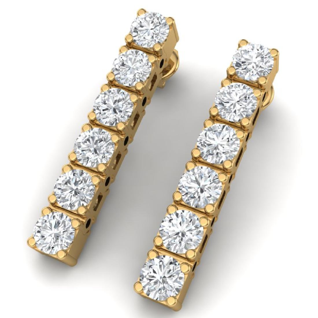 3 CTW Certified VS/SI Diamond Earrings 18K Yellow Gold