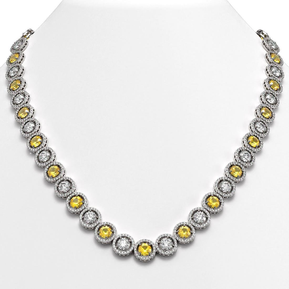 35.54 CTW Canary Yellow & White Diamond Designer