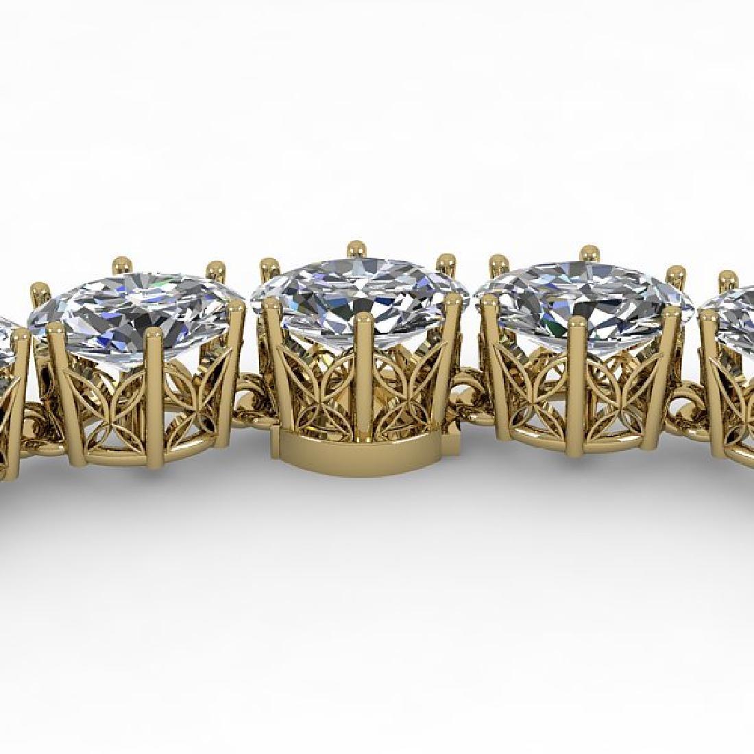 30 CTW Oval Cut SI Certified Diamond Necklace 14K