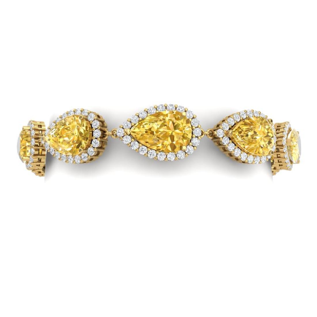 39.26 CTW Royalty Canary Citrine & VS Diamond Bracelet