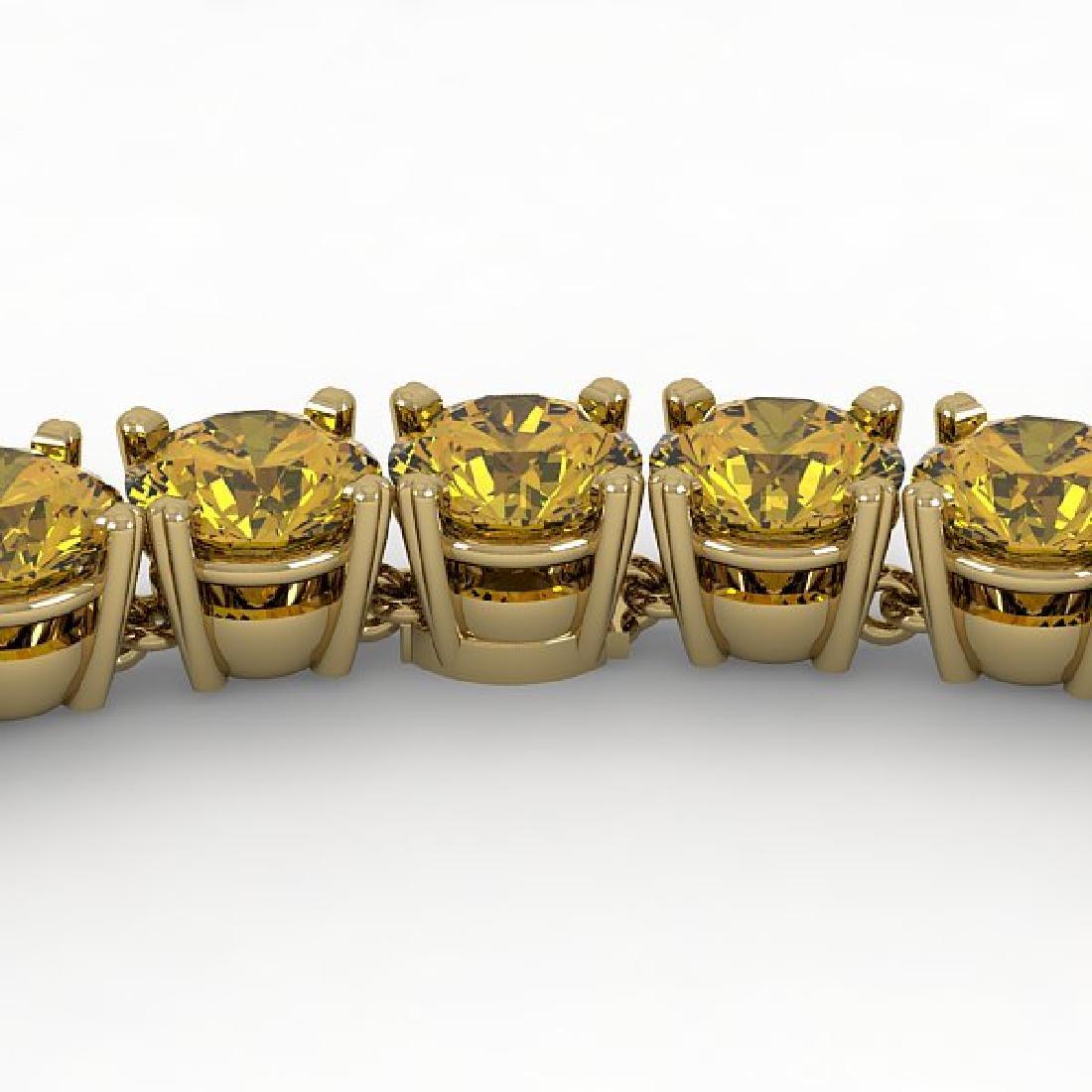 36 CTW Certified Fancy Yellow SI Diamond Necklace 18K