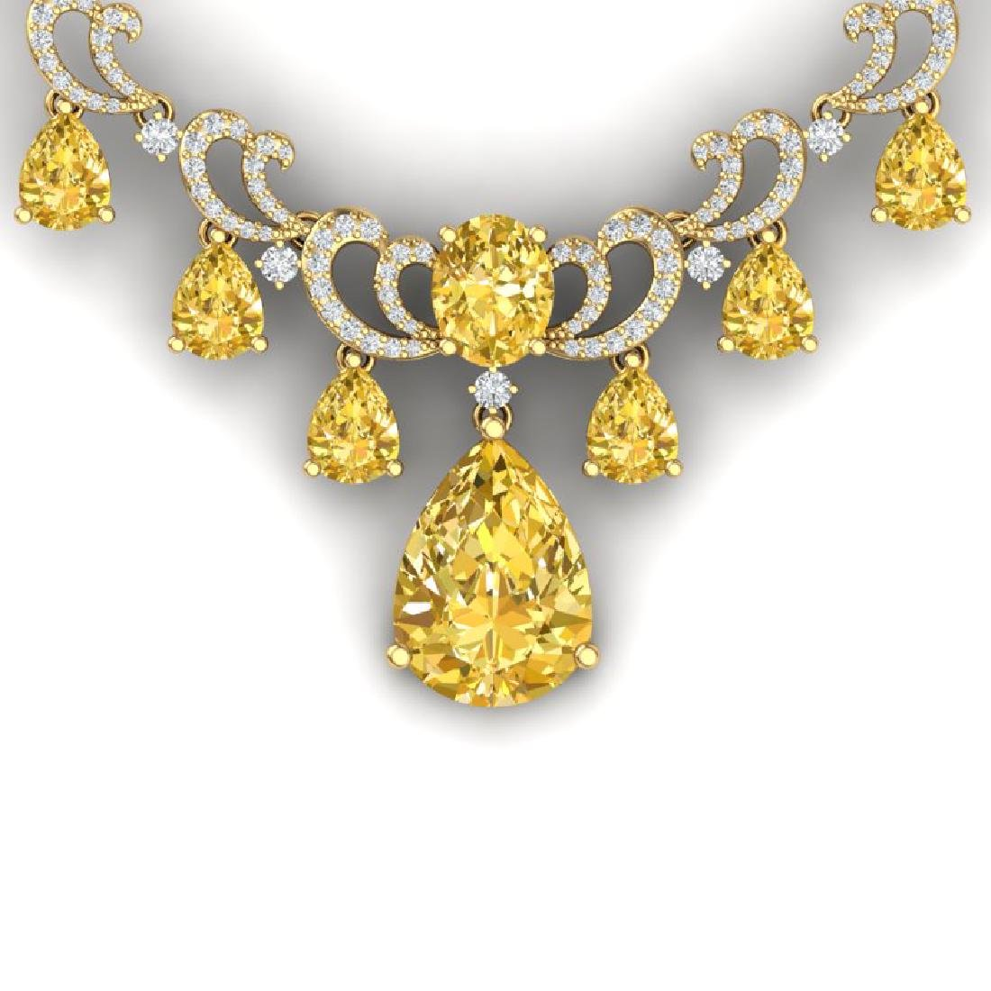 33.38 CTW Royalty Canary Citrine & VS Diamond Necklace