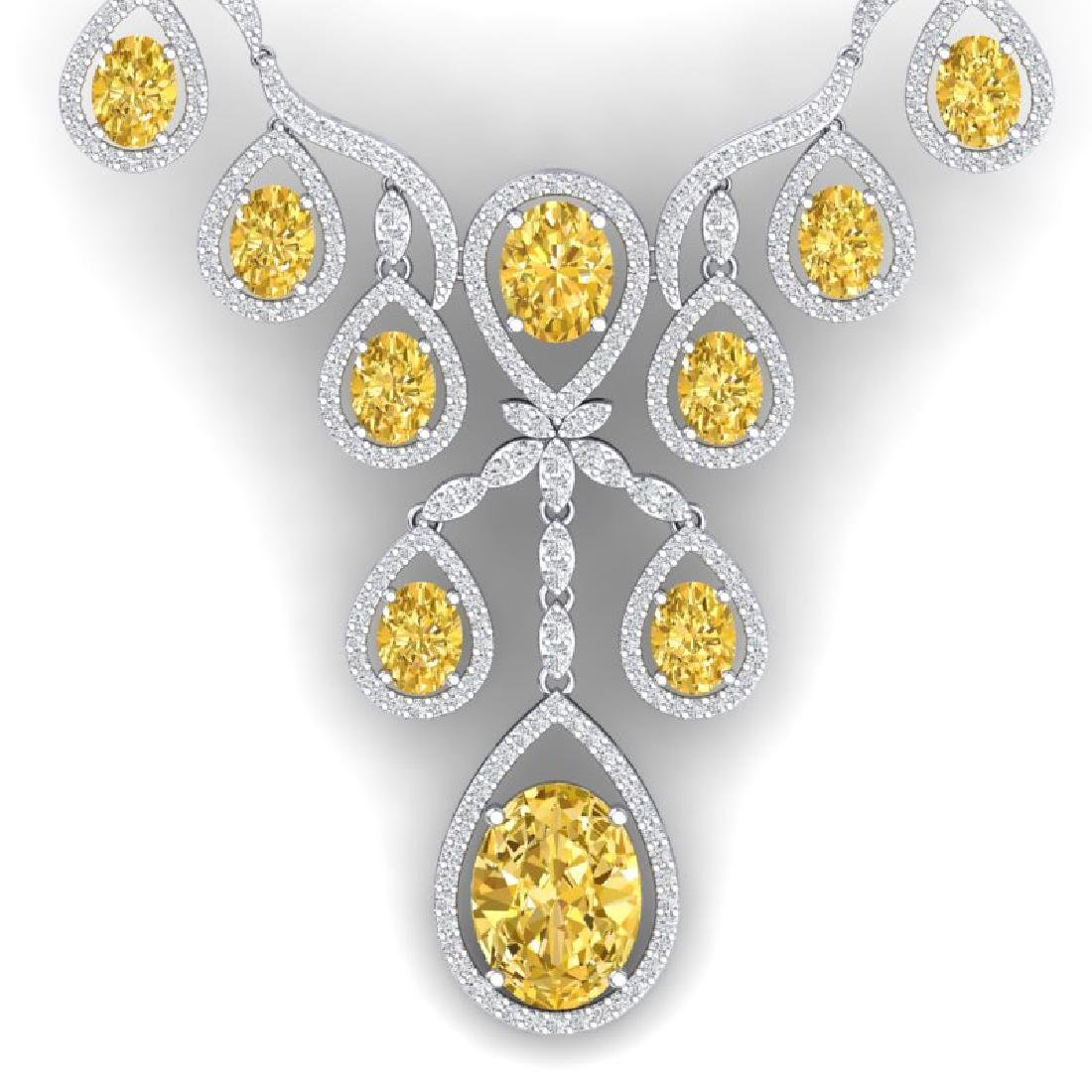 36.51 CTW Royalty Canary Citrine & VS Diamond Necklace