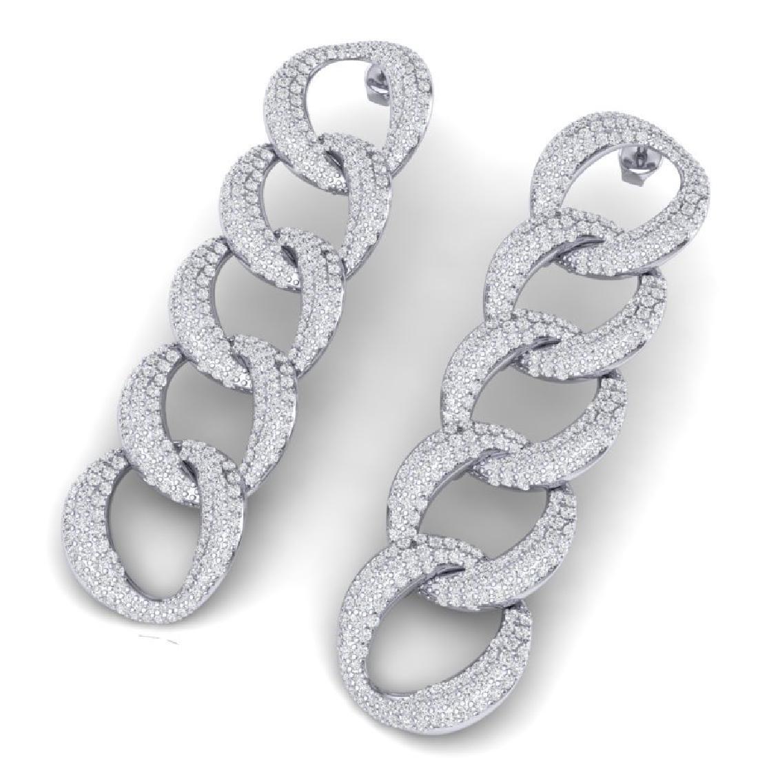 5 CTW Certified VS/SI Diamond Earrings 18K White Gold