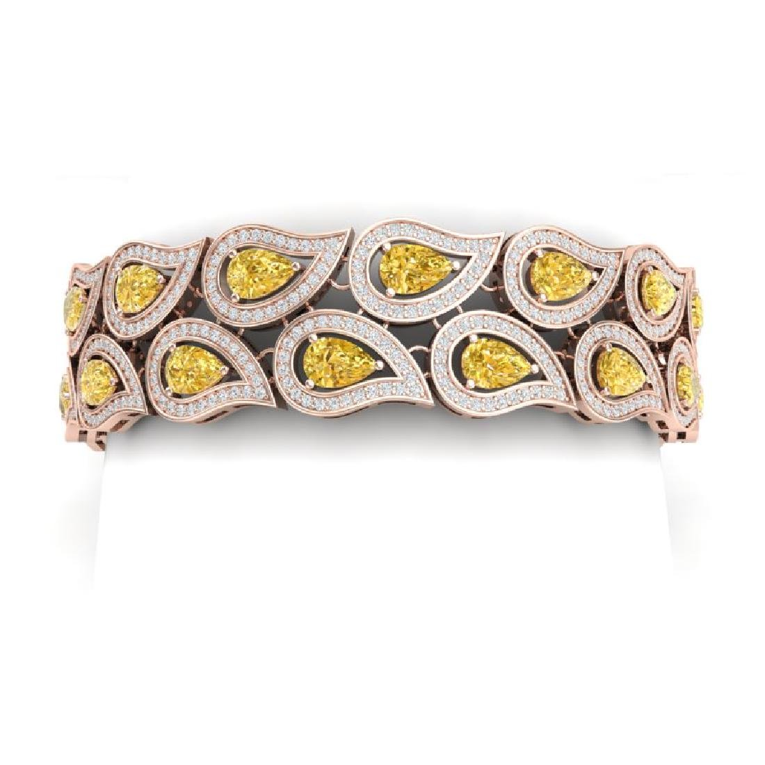 18.61 CTW Royalty Canary Citrine & VS Diamond Bracelet