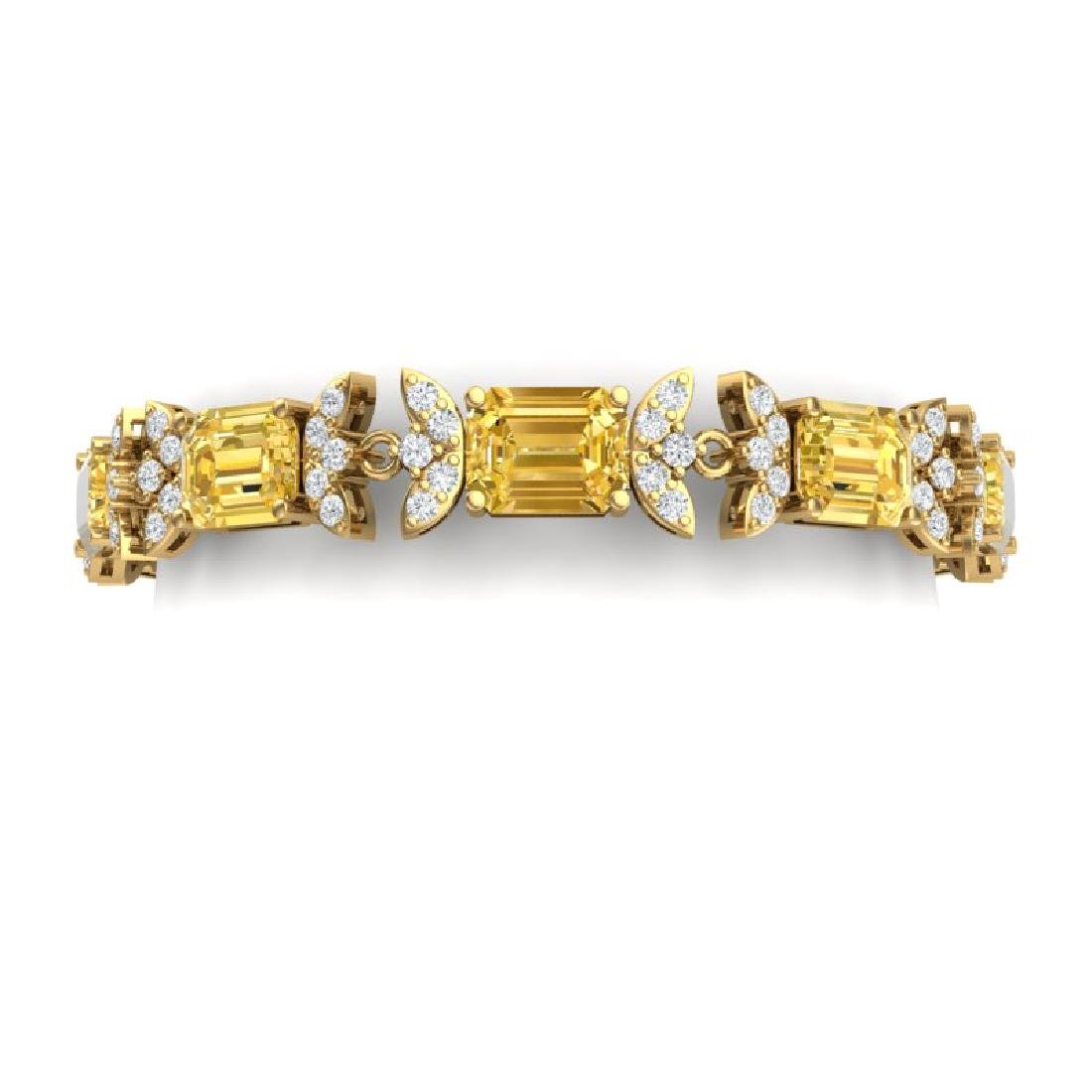 35.21 CTW Royalty Canary Citrine & VS Diamond Bracelet
