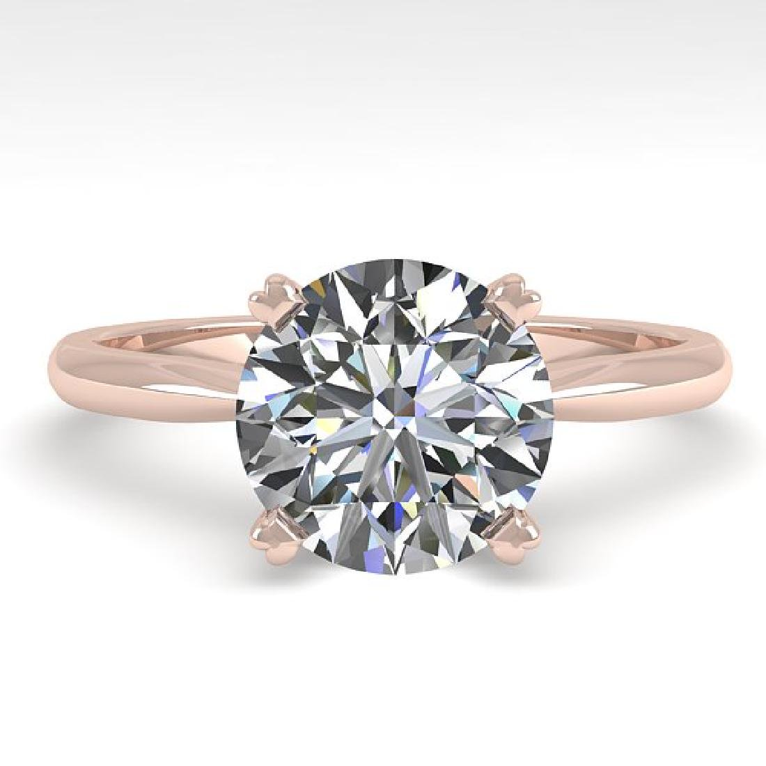 2 CTW Certified VS/SI Diamond Engagement Ring 18K Rose