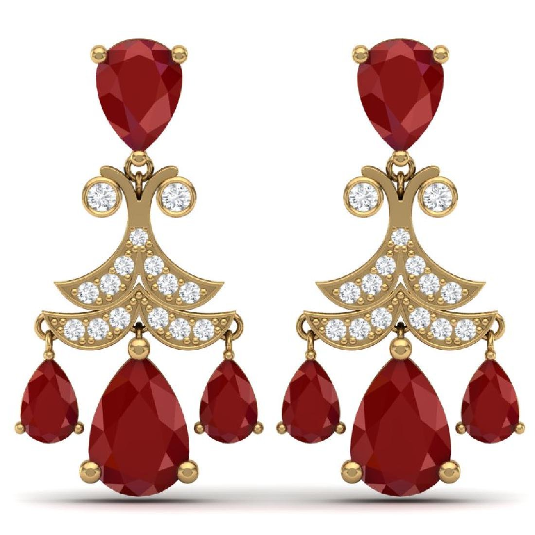 11.97 CTW Royalty Designer Ruby & VS Diamond Earrings