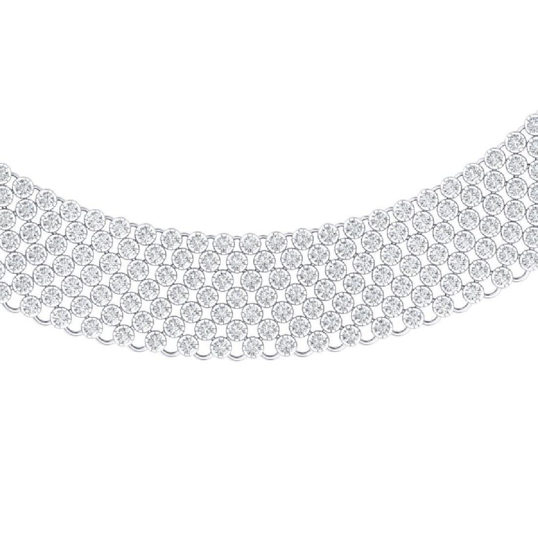 35 CTW Certified VS/SI Diamond Necklace 18K White Gold