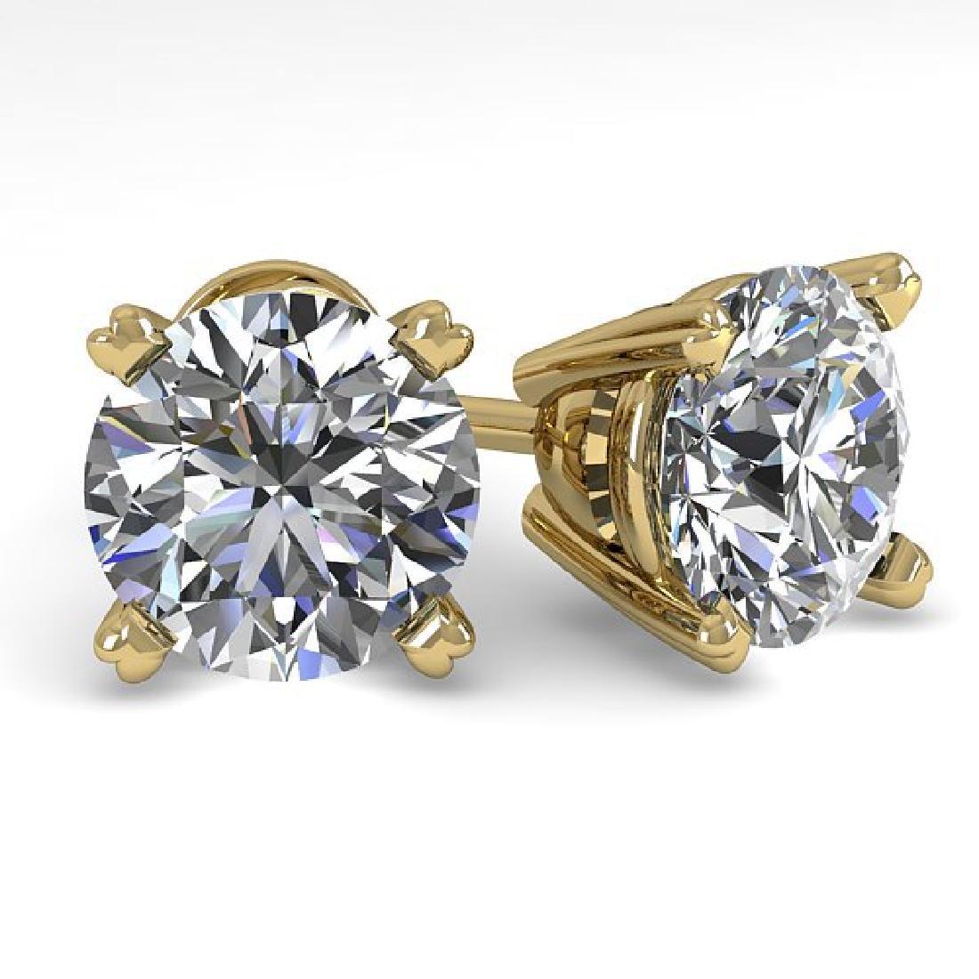 2.53 CTW Certified VS/SI Diamond Stud Earrings 14K