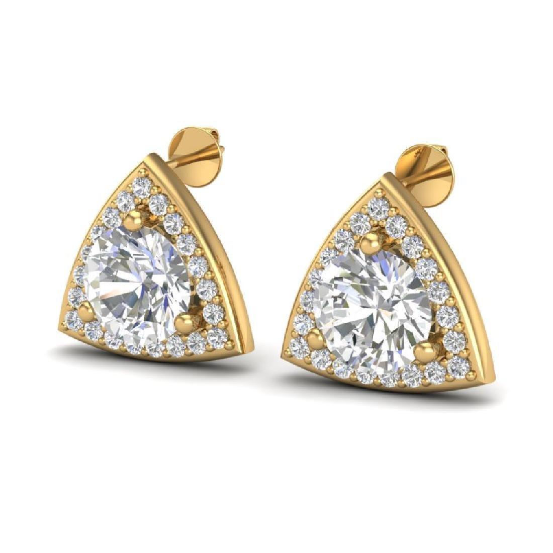 3 CTW VS/SI Diamond Stud Earrings 18K Yellow Gold