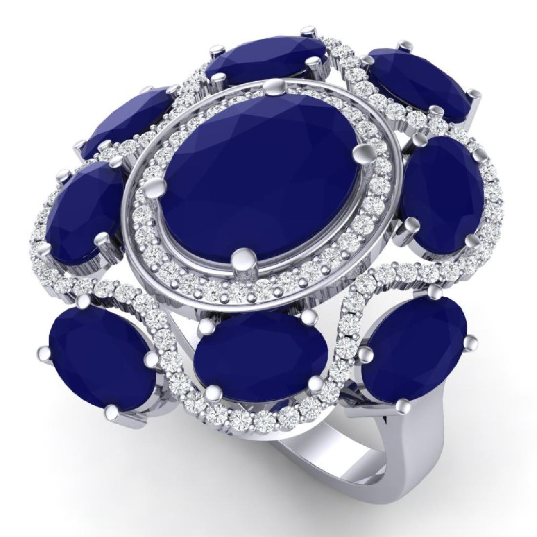 9.86 CTW Royalty Designer Sapphire & VS Diamond Ring