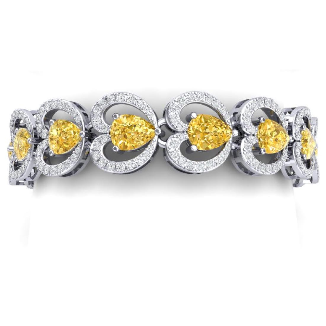 29.14 CTW Royalty Canary Citrine & VS Diamond Bracelet