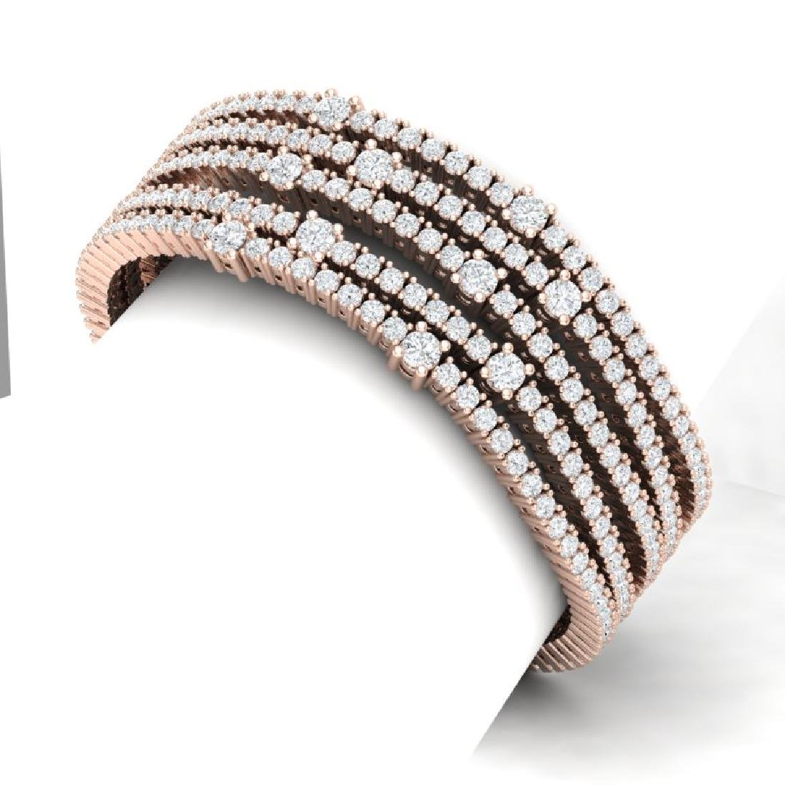 25 CTW Certified VS/SI Diamond Love Bracelet 18K Rose