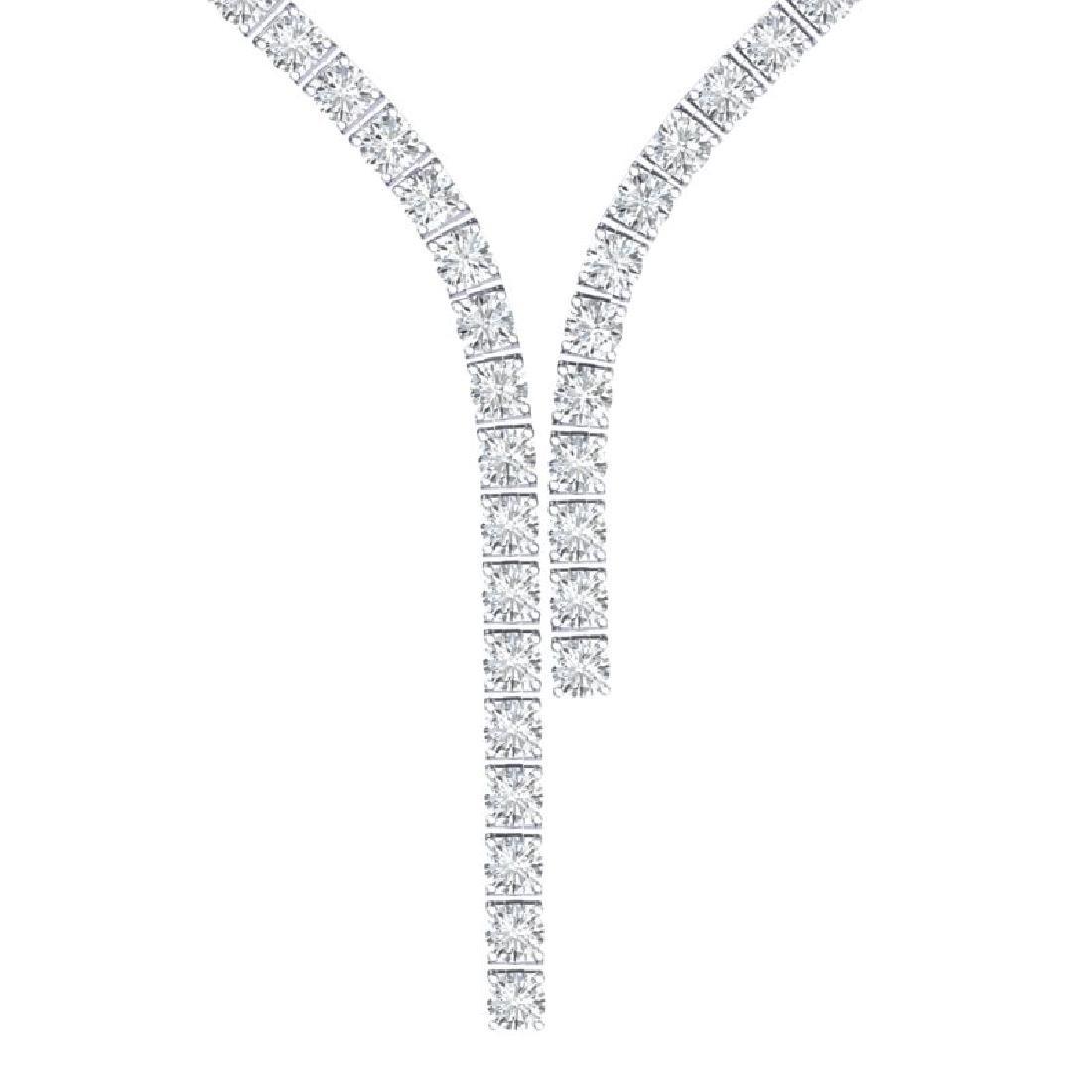 25 CTW Certified VS/SI Diamond Necklace 18K White Gold