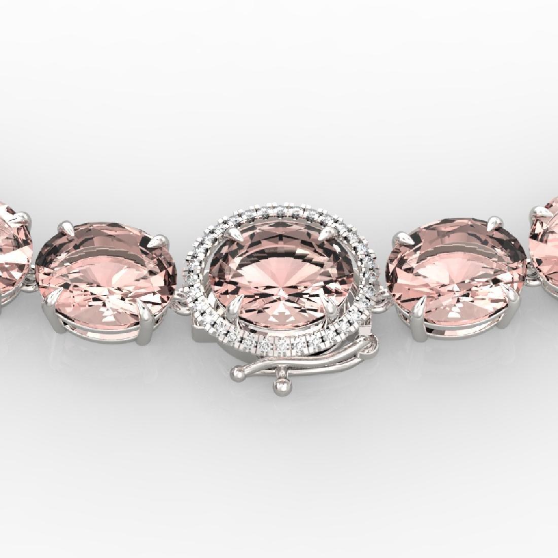148 CTW Morganite & VS/SI Diamond Solitaire Necklace