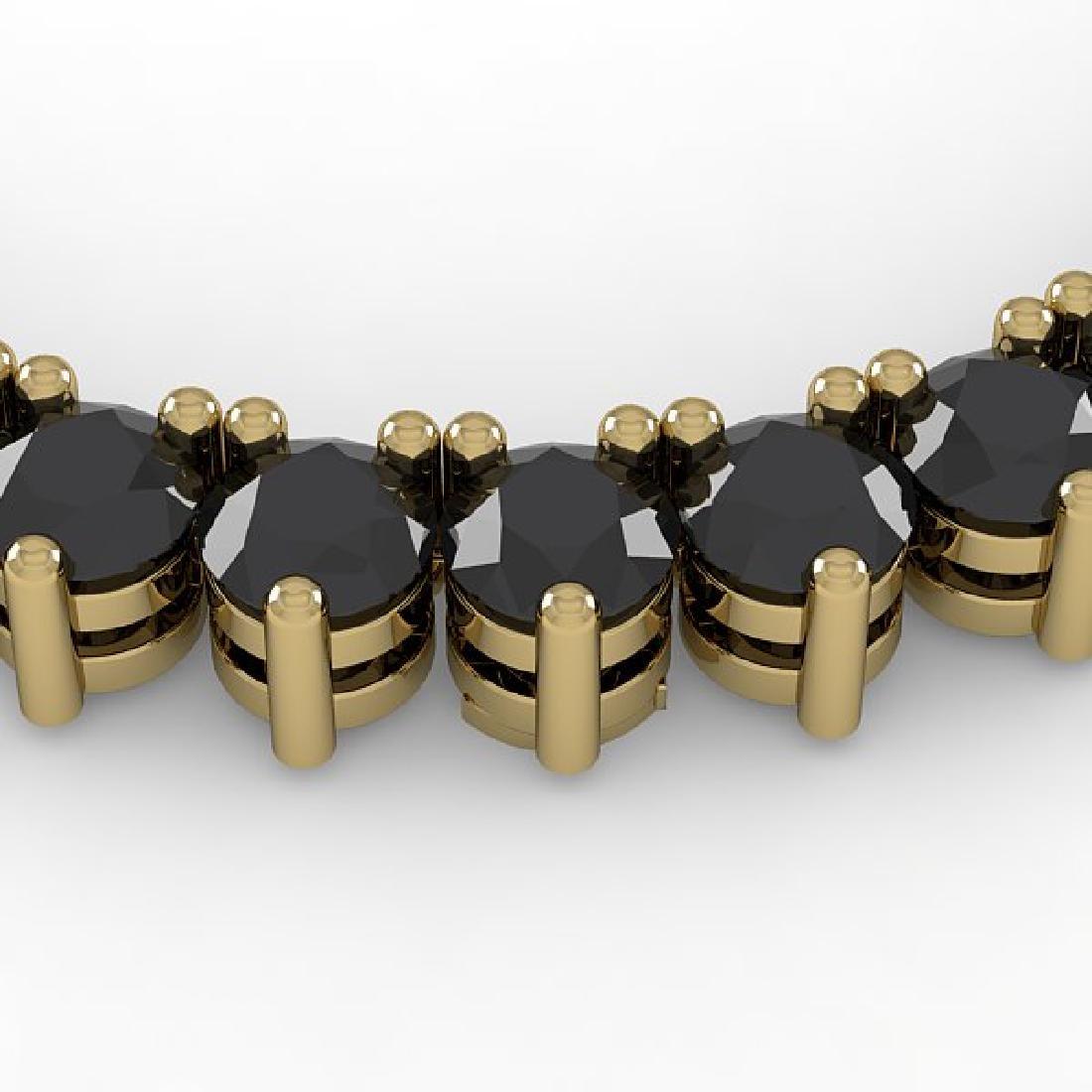 60 CTW Solitaire Certified Black VS Diamond Necklace
