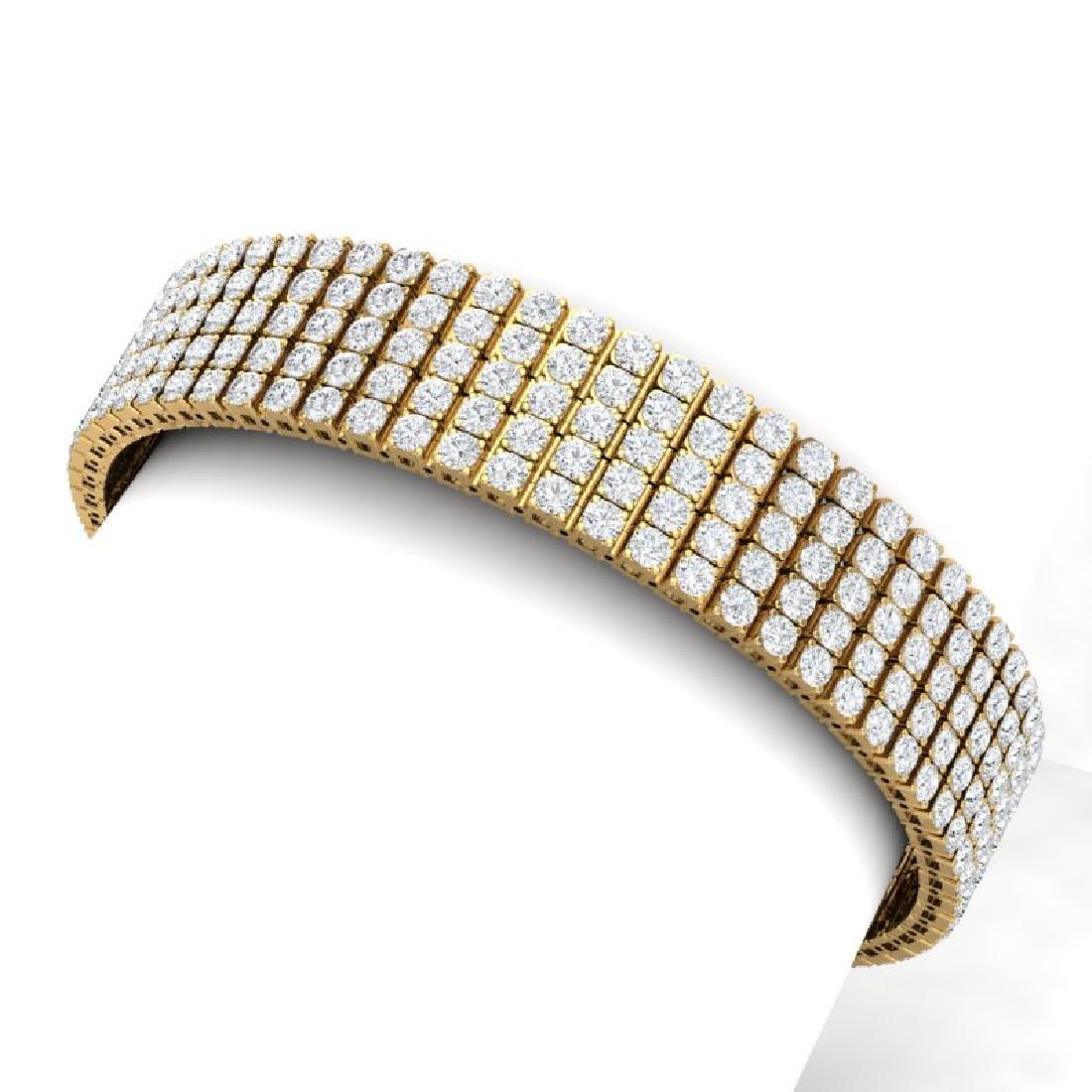 20 CTW Certified VS/SI Diamond Bracelet 18K Yellow Gold