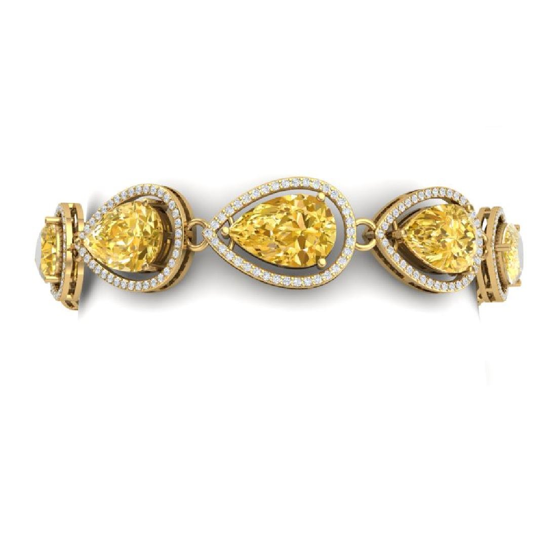 21.47 CTW Royalty Canary Citrine & VS Diamond Bracelet