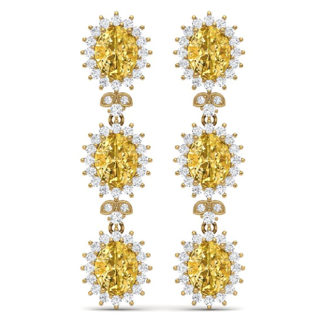 19.06 CTW Royalty Canary Citrine & VS Diamond Earrings