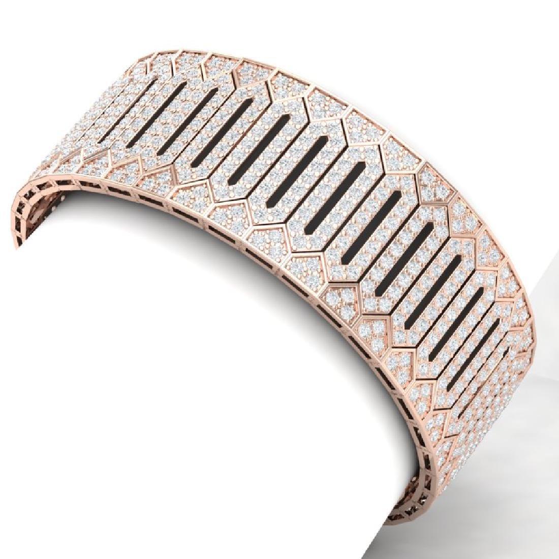 23 CTW Certified VS/SI Diamond 8 Inch Bracelet 18K Rose