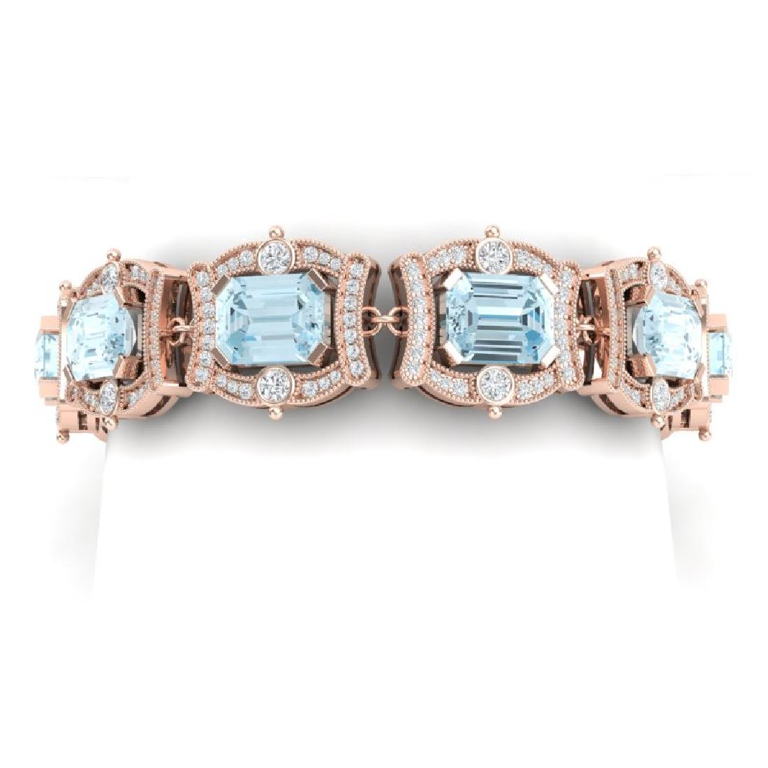 42.18 CTW Royalty Sky Topaz & VS Diamond Bracelet 18K