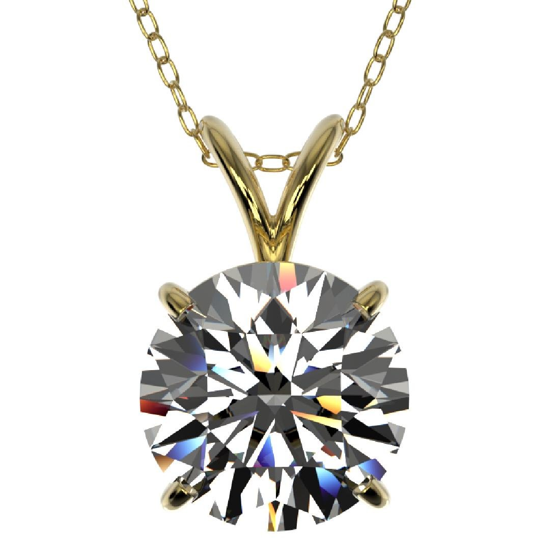 2 CTW Certified G-SI Diamond Bridal Necklace 10K Yellow