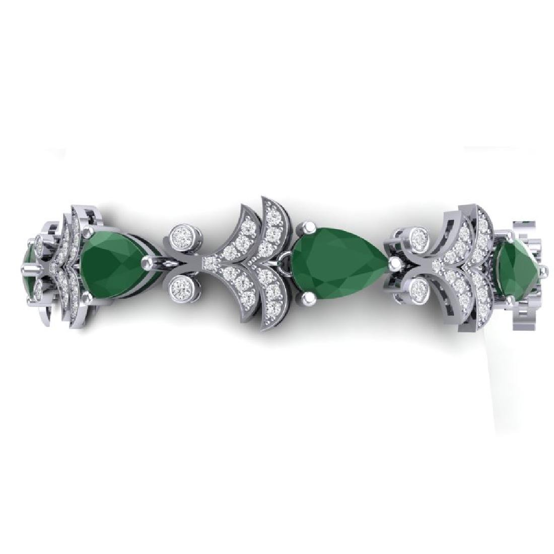24.8 CTW Royalty Emerald & VS Diamond Bracelet 18K