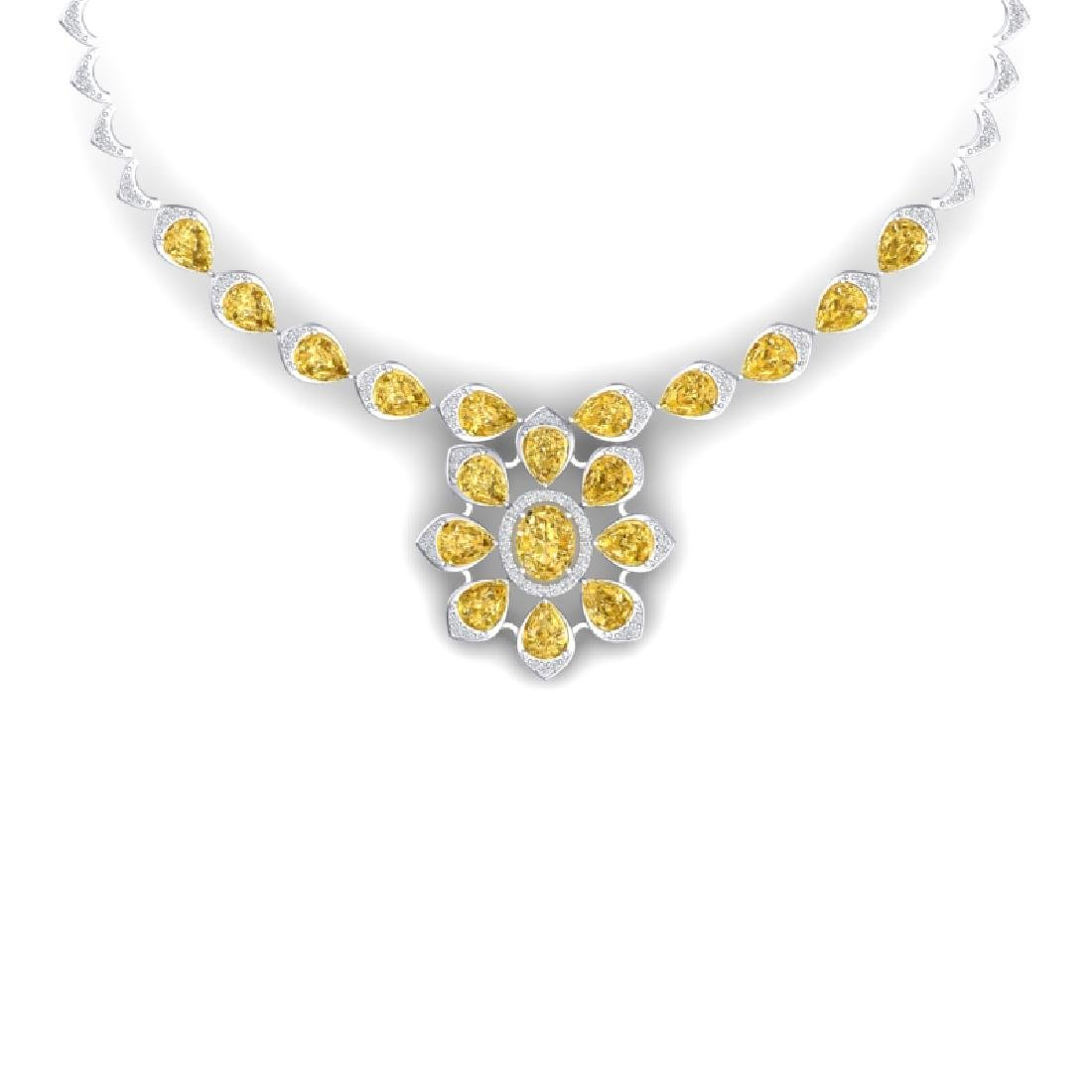 28.51 CTW Royalty Canary Citrine & VS Diamond Necklace