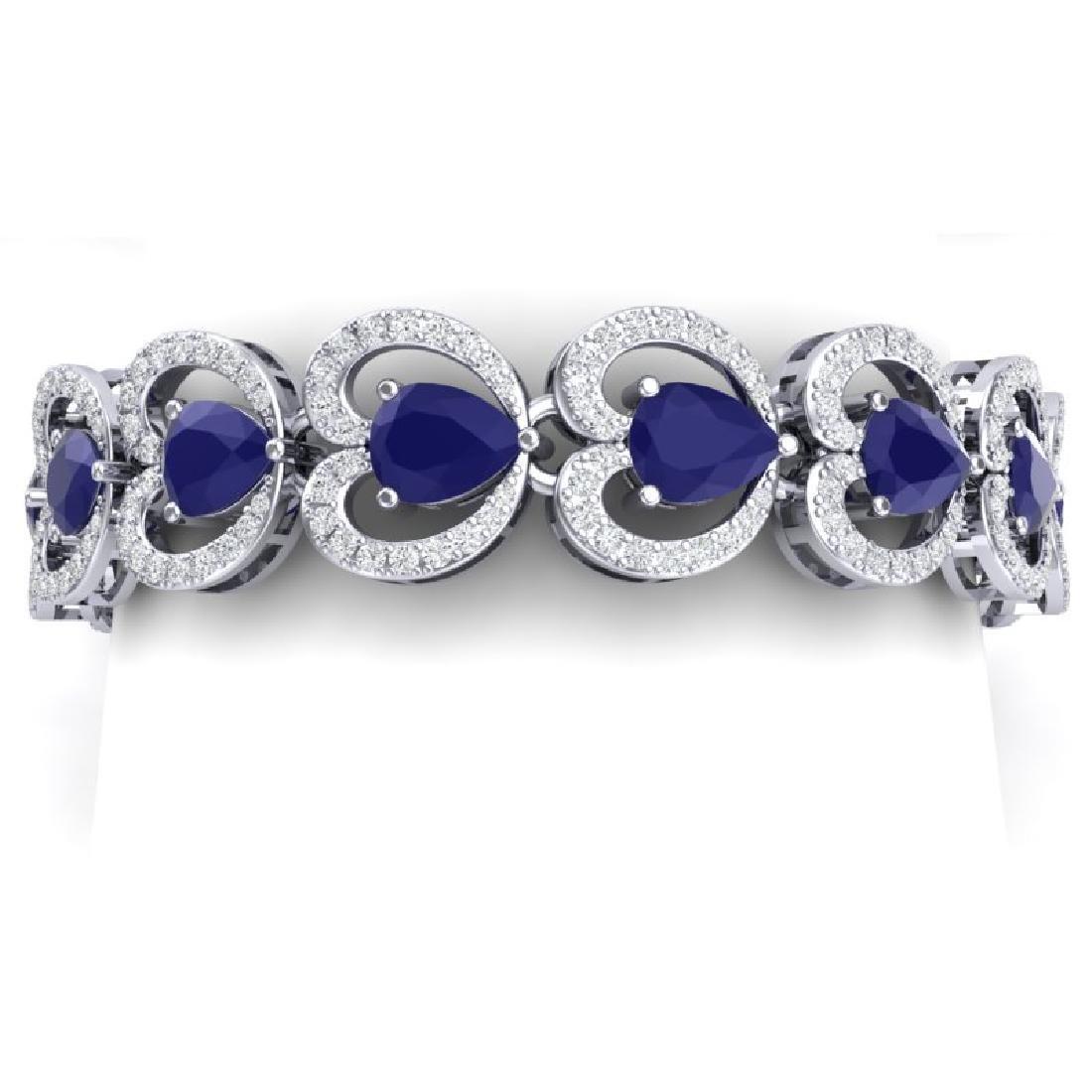 32.15 CTW Royalty Sapphire & VS Diamond Bracelet 18K
