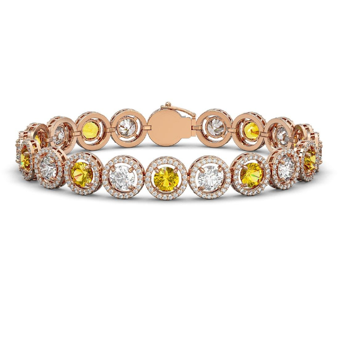 15.47 CTW Canary Yellow & White Diamond Designer