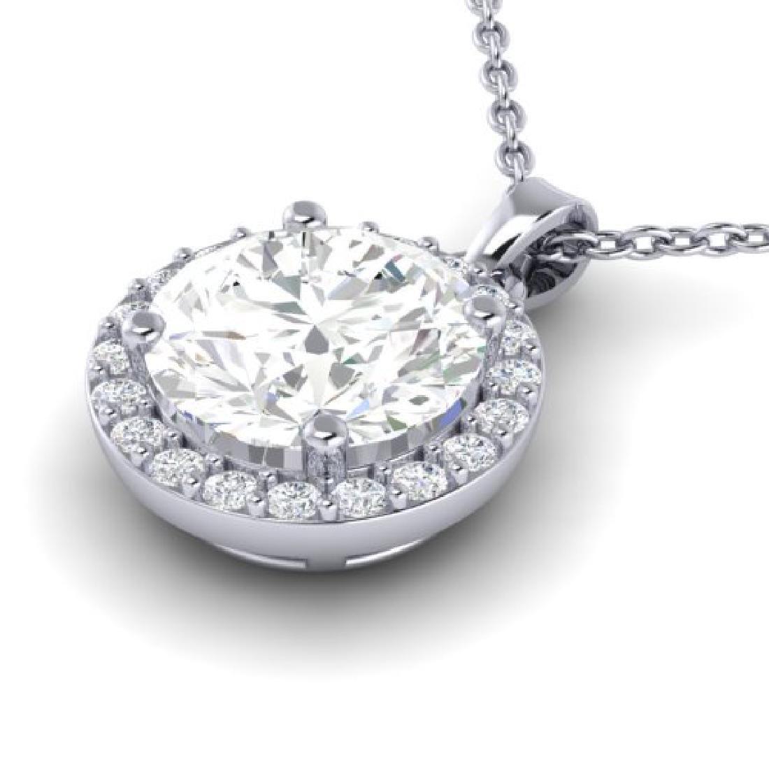 1.75 CTW VS/SI Diamond Pave Necklace 18K White Gold