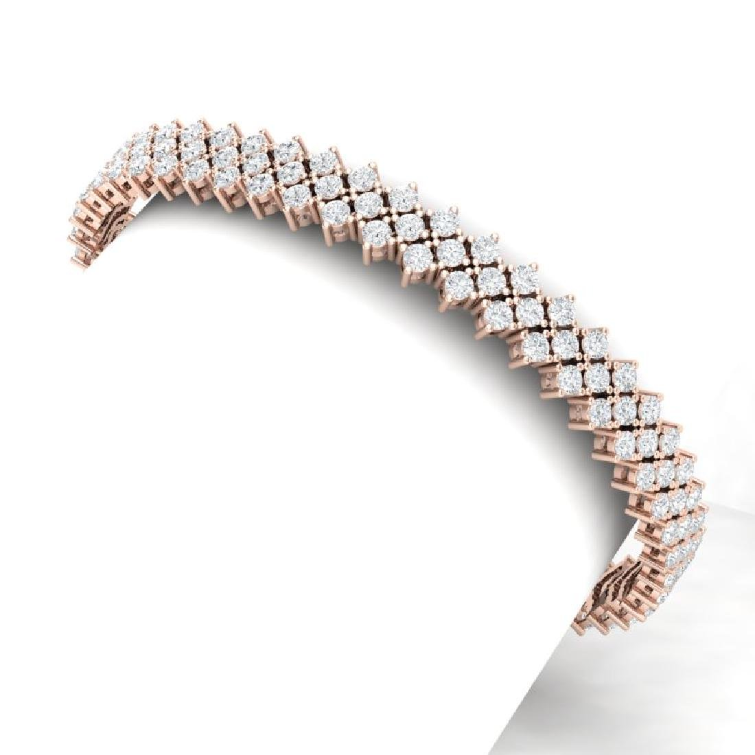 10 CTW Certified SI/I Diamond Bracelet 18K Rose Gold