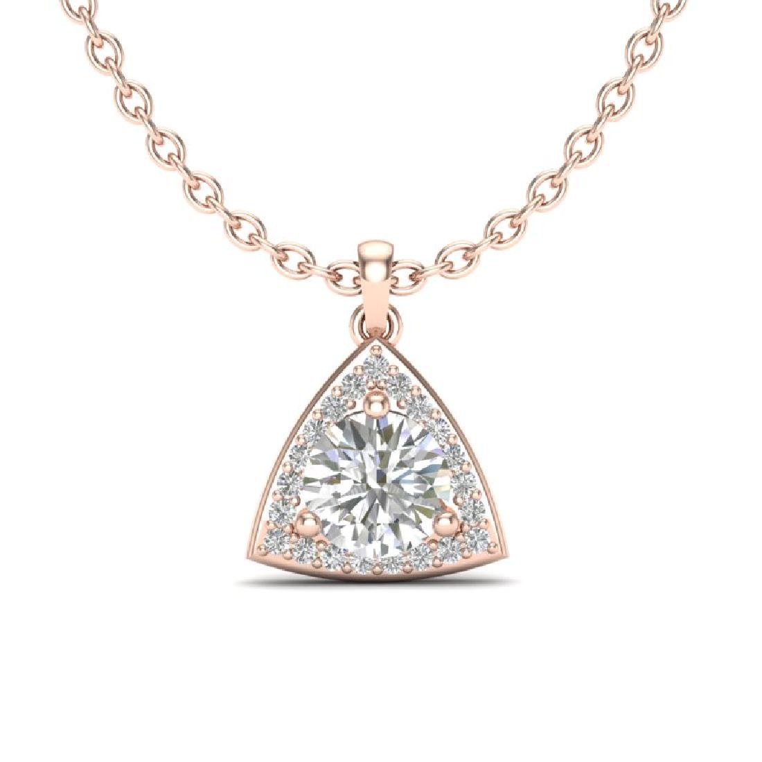 1.50 CTW VS/SI Diamond Necklace 14K Rose Gold