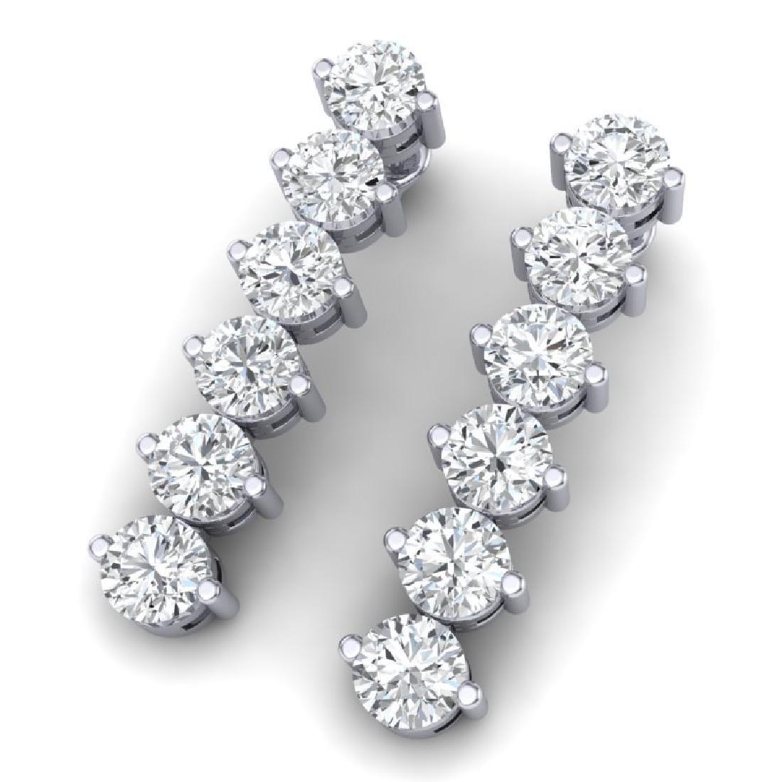 6 CTW Certified SI/I Diamond Earrings 18K White Gold