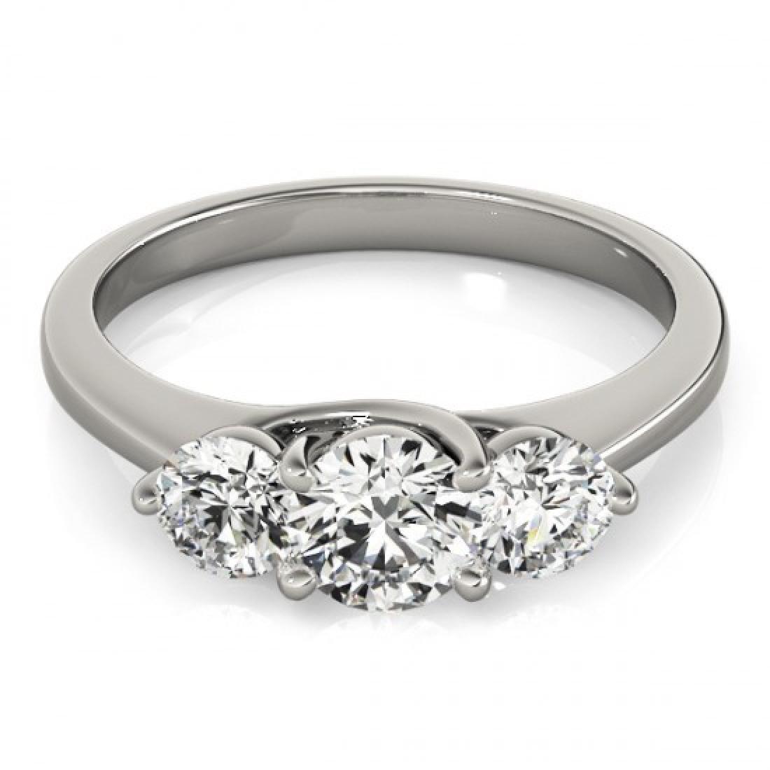 3 CTW Certified VS/SI Diamond 3 Stone Bridal Ring 14K