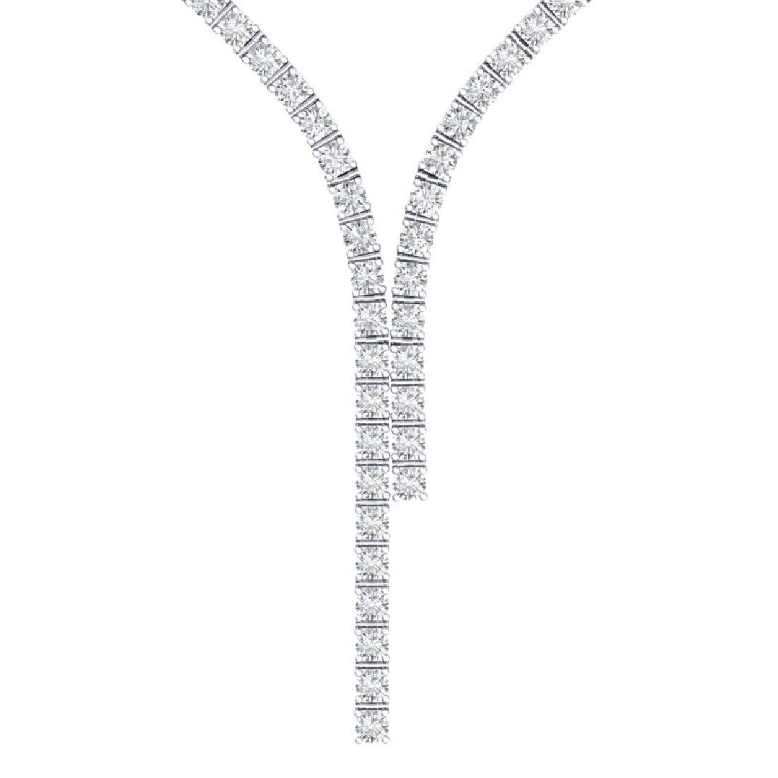 15 CTW Certified SI/I Diamond Necklace 18K White Gold