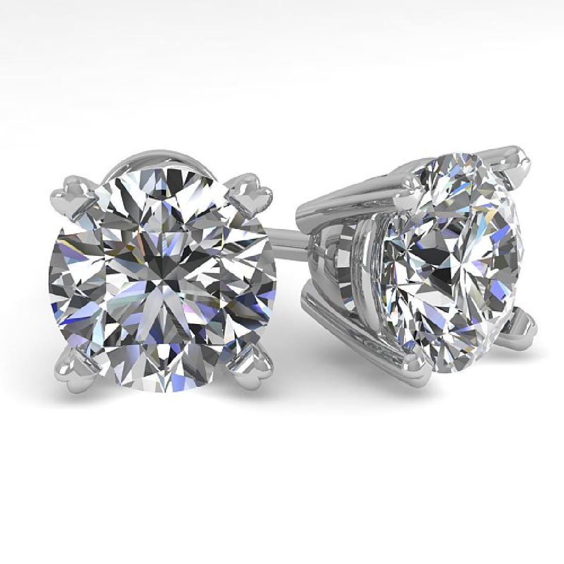 2.53 CTW Certified VS/SI Diamond Stud Earrings 18K