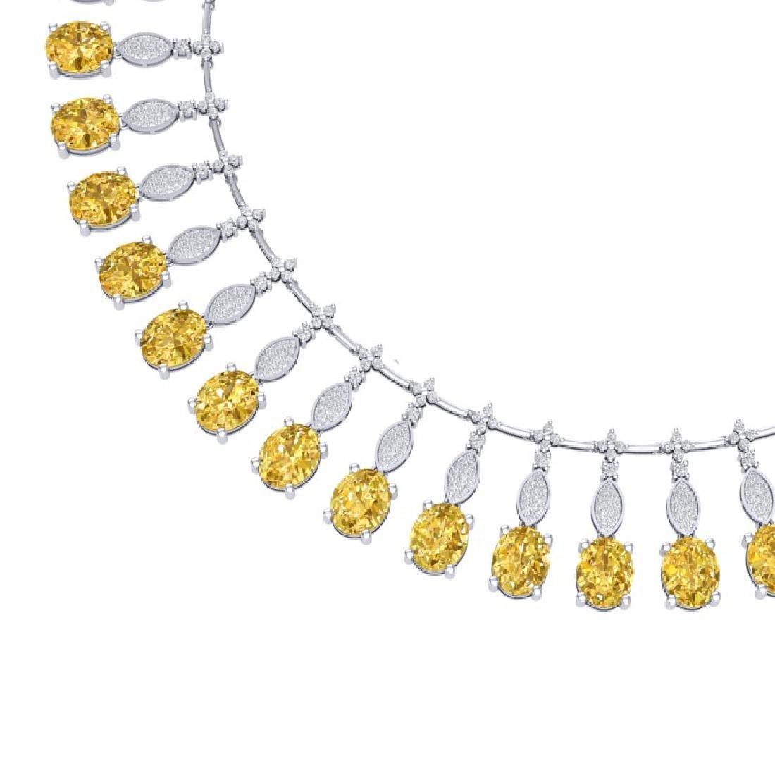 50.16 CTW Royalty Canary Citrine & VS Diamond Necklace